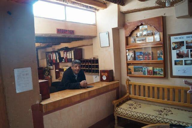 recepcion hotel kasbah de Tomboctou en Tinghir