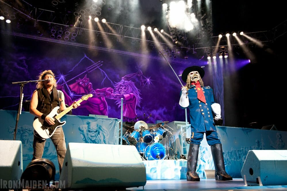 Eddie the trooper en la gira maiden england 2012
