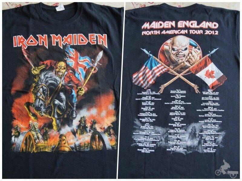 camiseta de la gira maiden england american tour 2012