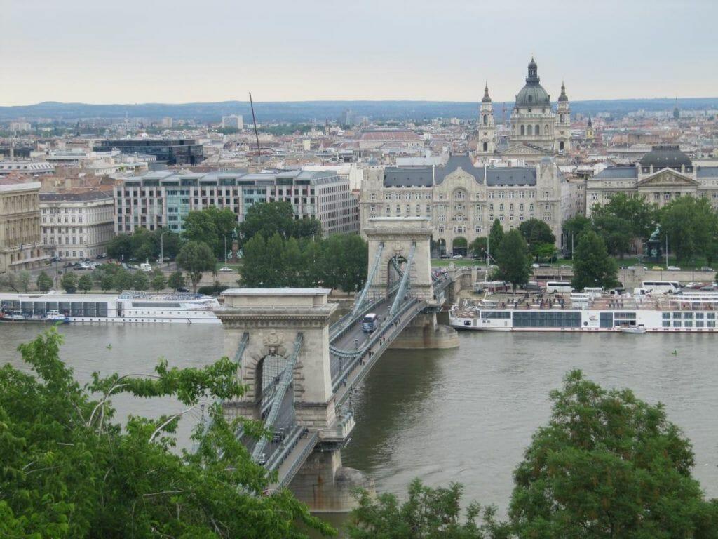 vistas desde el castillo a 170m desde el nivel del Danubio