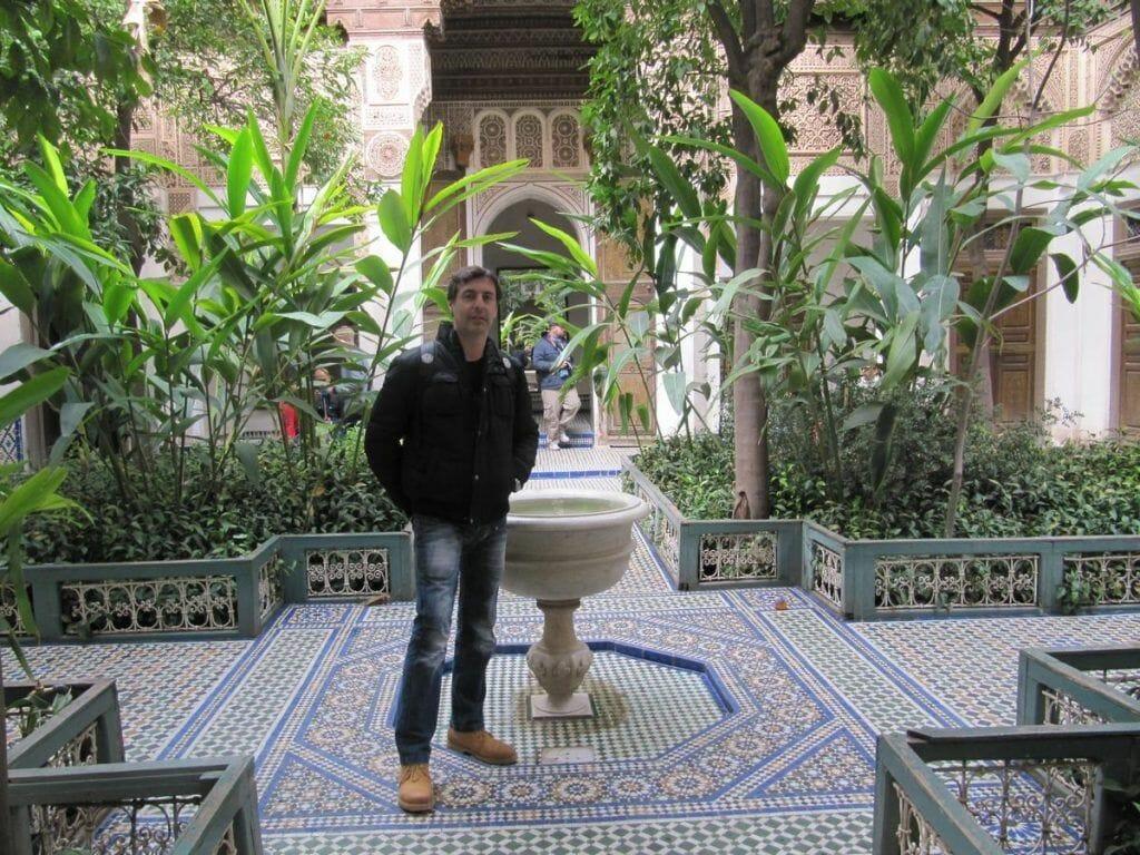 jardines del palacio bahia de Marrakech, arte islamico, palacios marrakech