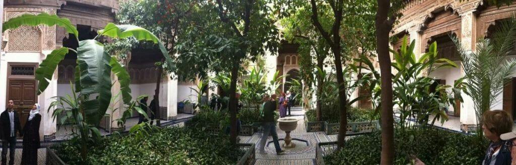 palacio bahia de Marrakech, jardines