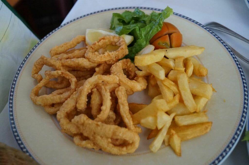 calamares fritos de Fuerteventura