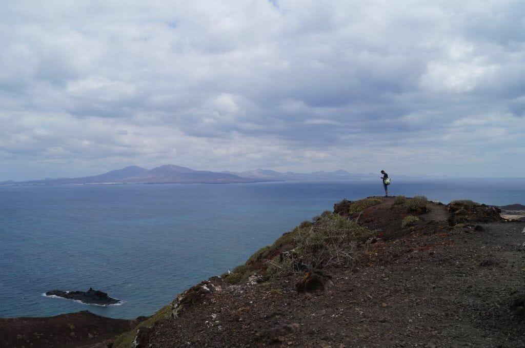 vistas desde isla de lobos en el Fuerteventura en 5 días