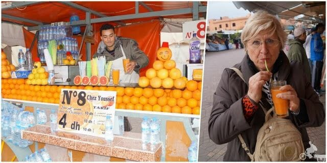 zumos naranja djema el fna marrakech