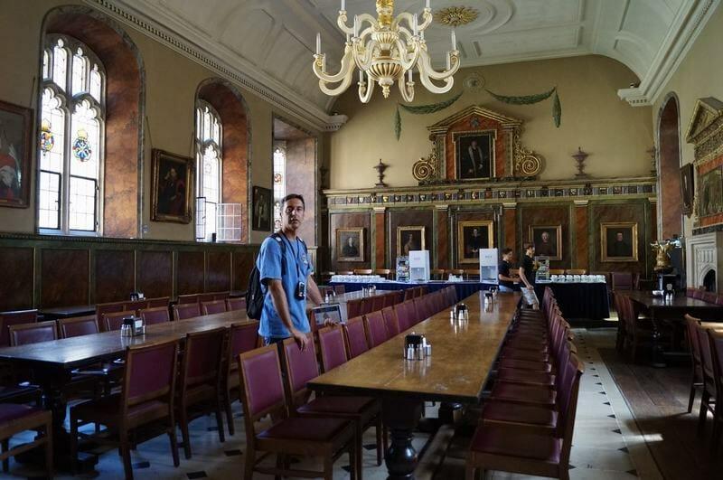 Comedor del Trinity College de Oxford Inglaterra