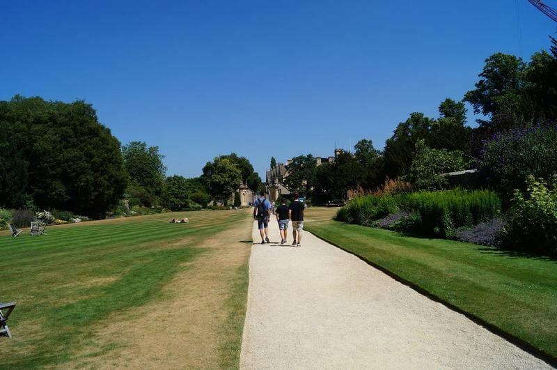 parque dentro del Trinity College