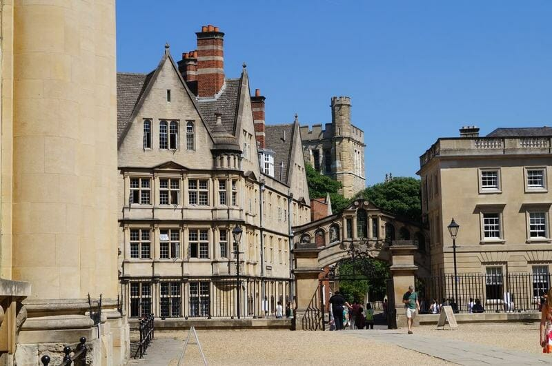 Puente de los suspiros de Oxford Inglaterra