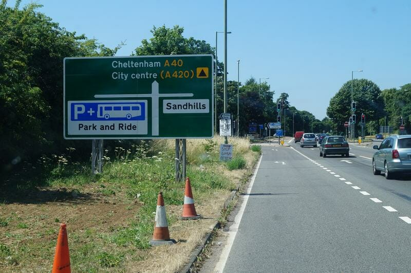 Park and ride de Inglaterra. Park&ride Oxford, aparcar en Oxford, Water eaton