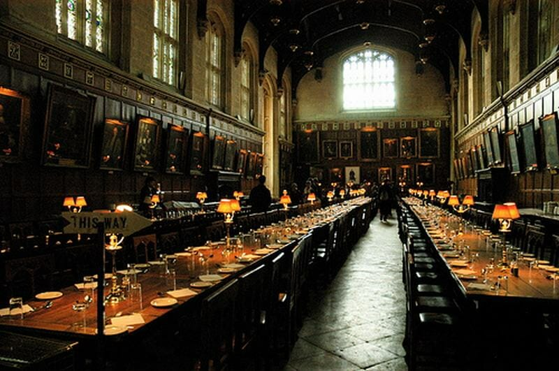 comedor harry potter en Oxford en Christchurch college