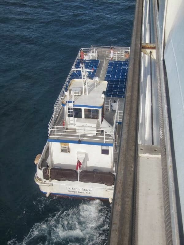 isla CocoCay, barco desembarco