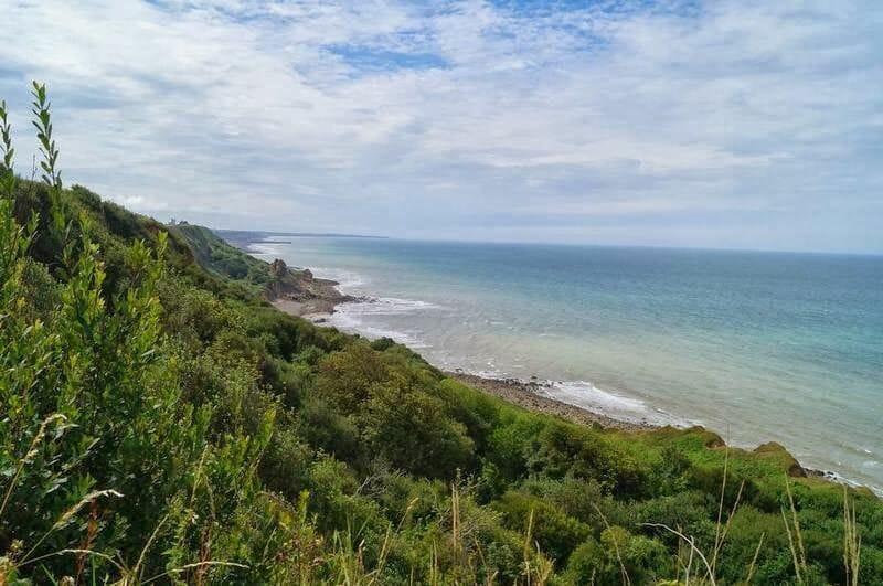 vistas mar desde BATERÍA de LONGUES-SUR-MER