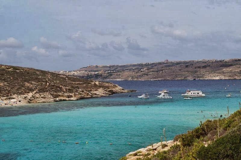 Blue lagoon, playa de Comino, playas de Malta