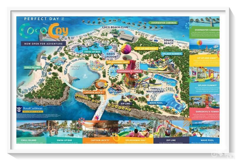 mapa cococay bahamas