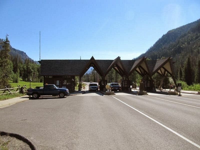 entrada sur del parque de Yellowstone