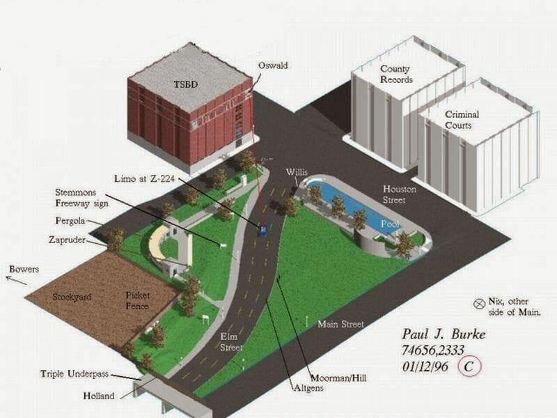plano asesinato de Kennedy plaza Dealey