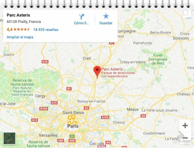 mapa parque asterix