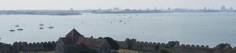 Castillo de Porchester, castillos de Portsmouth, castillos medievales ingleses, fortalezas romanas inglesas