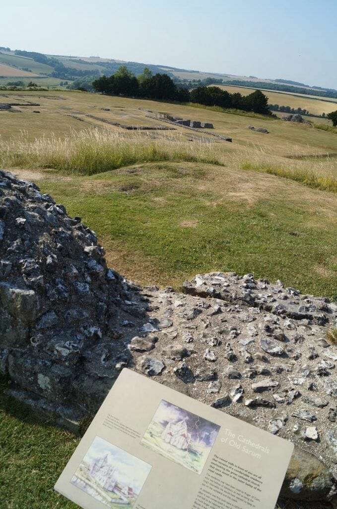 restos de la catedral de 1092 de Old Sarum