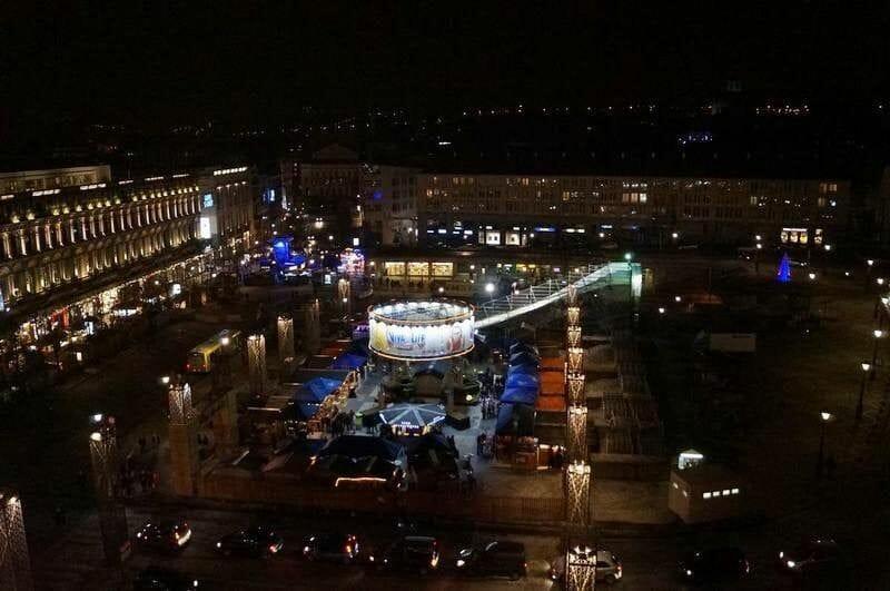 Mercados navideños de Bélgica, Mercado navidad de Lieja, noria