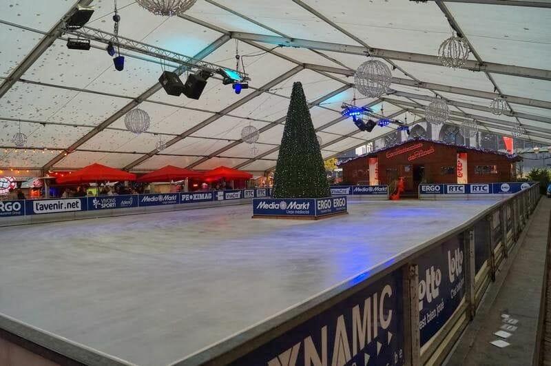 Mercados navideños de Bélgica, Mercado navidad de Lieja, pista hielo