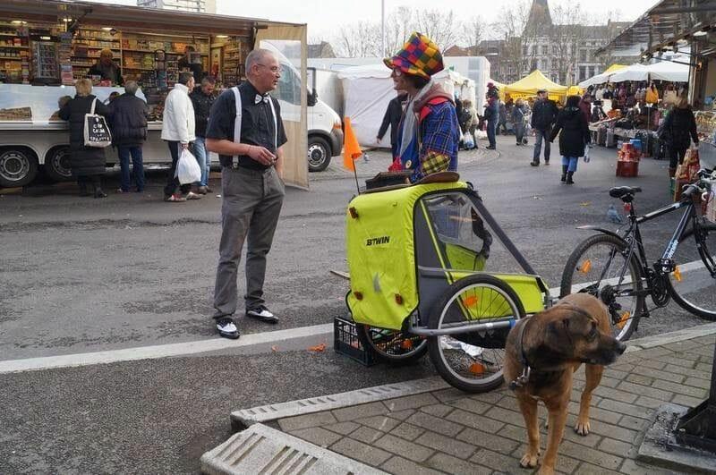 mercado callejero de Lieja