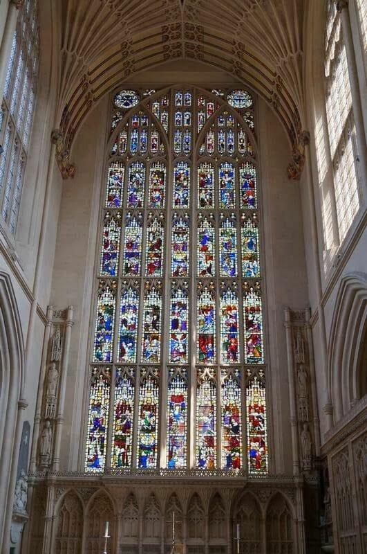 Abadía de Bath, vidrieras de catedrales