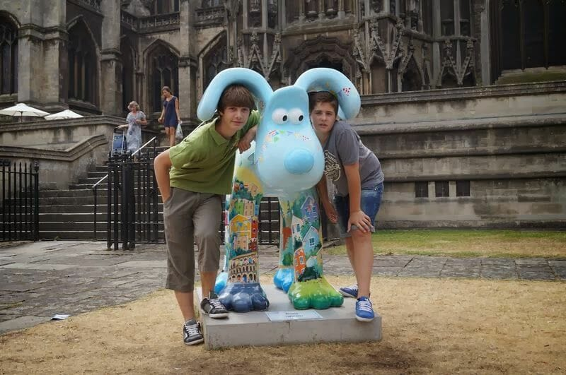 Gromit en St Mary Redcliffe