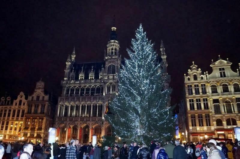 Gran plaza Navidad en Bruselas