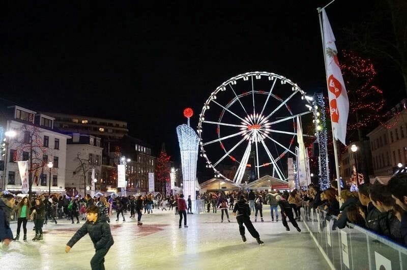Navidad en Bruselas con la noria
