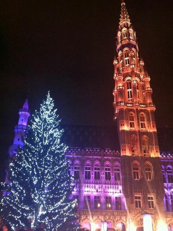 Navidad en Bruselas grand place
