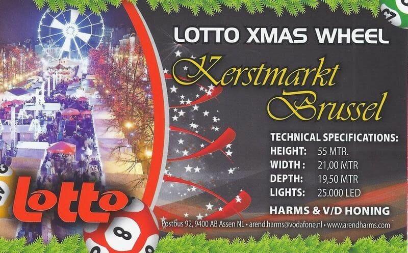 Bruselas en navidad subiendo a la noria lotto xmas wheel