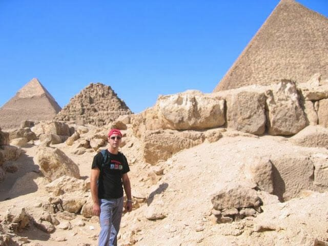 En el interior de la piramide de Kefrén