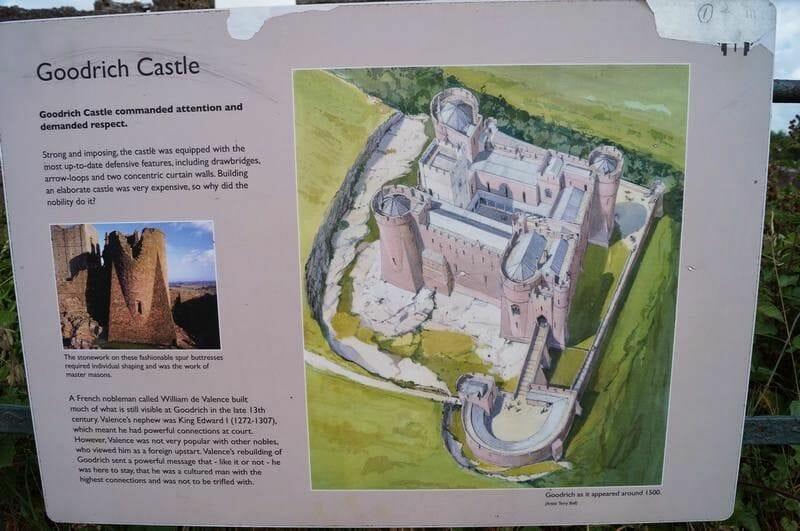 castillo de Goodrich plano