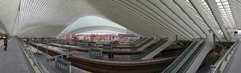 La estación de tren de Calatrava en Lieja