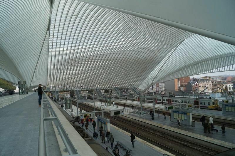 estación de tren de Lieja de Santiago Calatrava