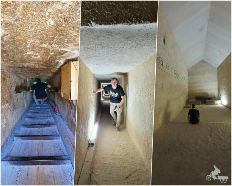 interior pirámide de Kefrén