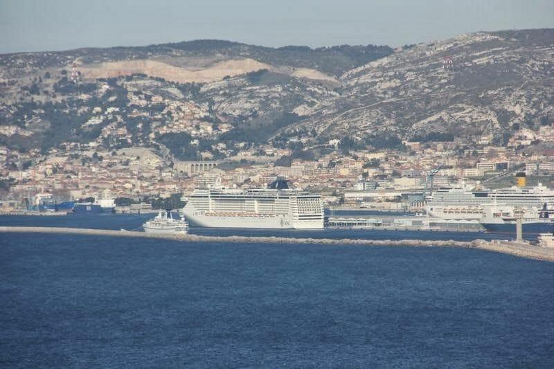 puerto cruceros Marsella, puerto nuevo Marsella, Costa en Marsella, MSC en Marsella