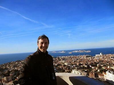 vistas de Marsella desde notre dame de la garde