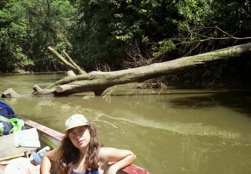 Marta en el Parque Nacional de Cuyabeno
