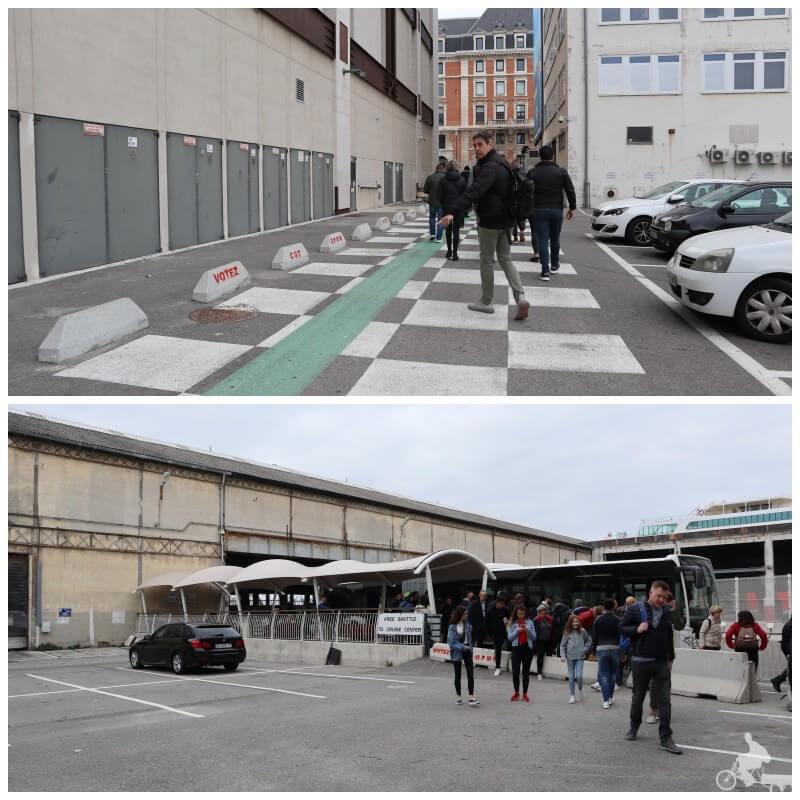 lugar donde llega el bus 35 T del puerto de Marsella