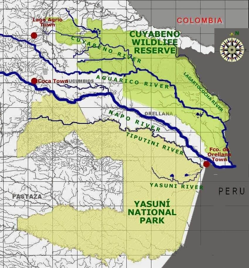 Parque Nacional de Cuyabeno mapa