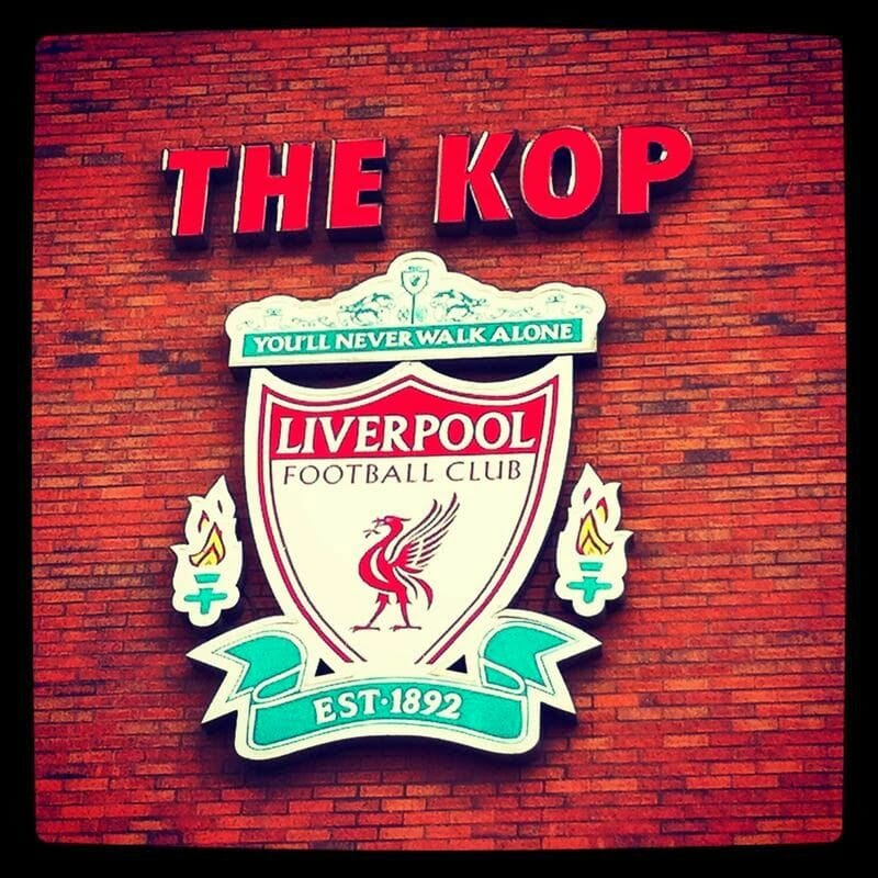estadio del Liverpool, Anfield. the kop