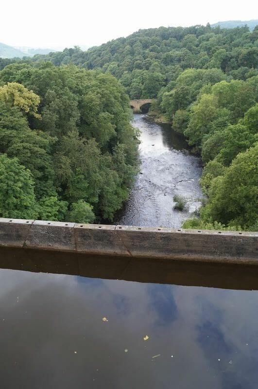 río debajo del acueducto de Pontcysyllte