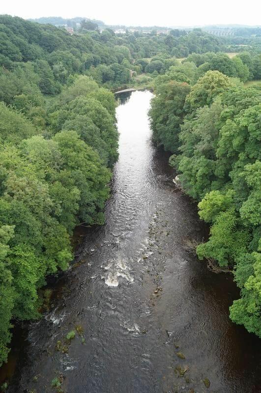río del acueducto de Pontcysyllte
