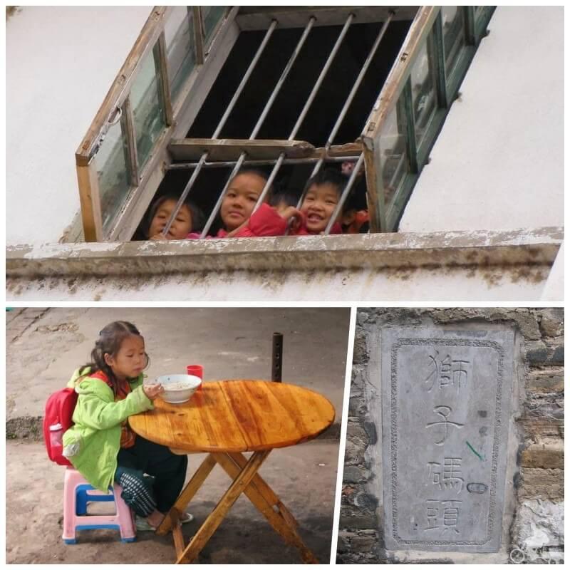 niños del pueblo de daxu en china