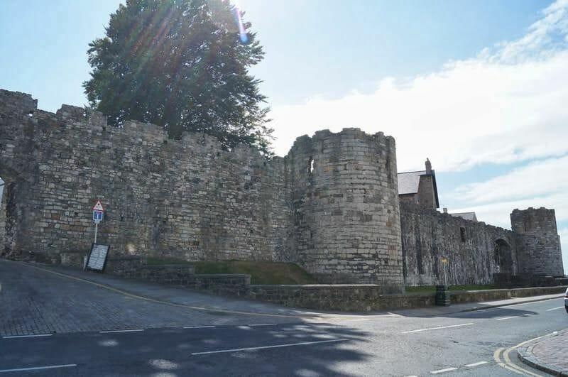 muralla castillo de Caernarfon