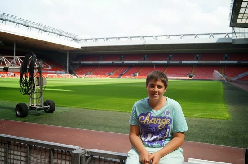 estadio del Liverpool, Anfield.