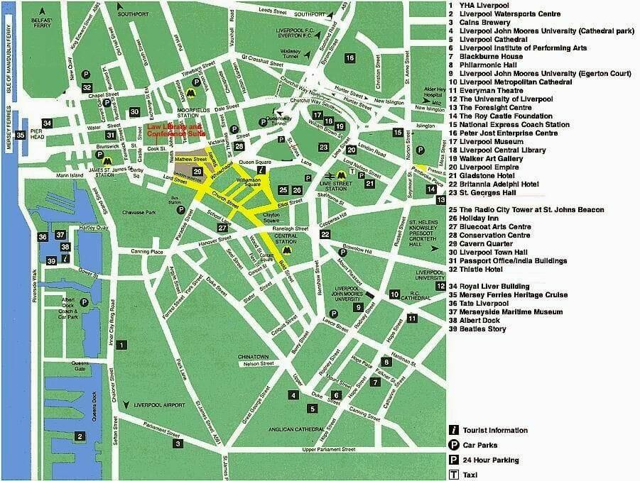 mapa de Liverpool