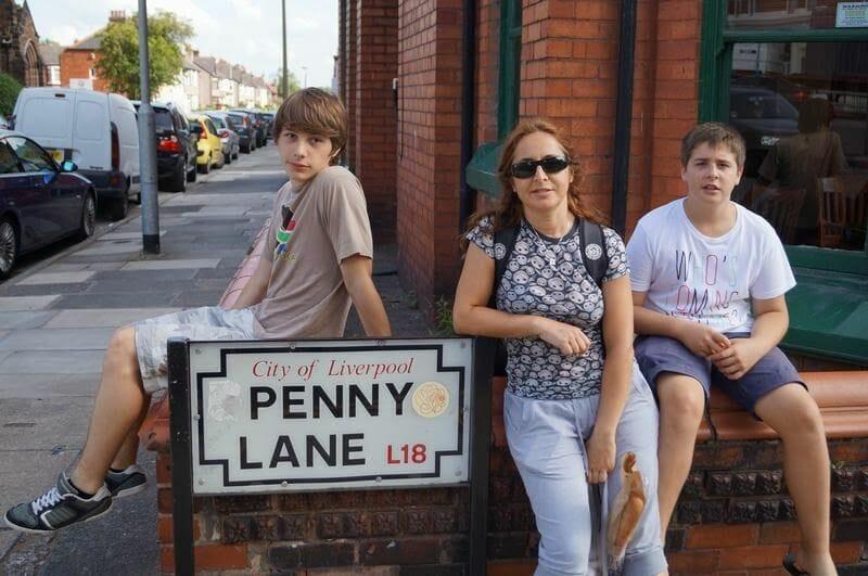 penny lane cartel de la calle